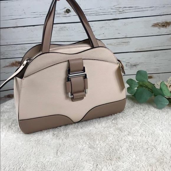 afe1116817 NICOLI Two Tone Satchel Handbag Italian Leather